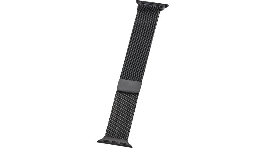 PETER JAeCKEL WATCH BAND fuer Apple Watch 40mm Series 4 5 38mm Series 1 2 3 Milanaise Black