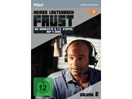 Faust Vol 2 Die komplette 3 und 4 Staffel der Krimi Erfolgsserie mit Heiner Lauterbach Pidax Serien Klassiker 4 DVDs