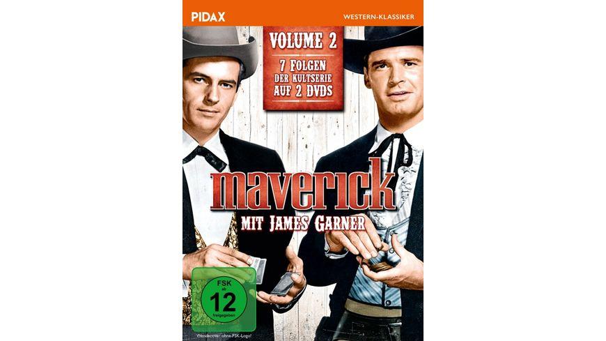 Maverick Vol 2 Weitere sieben Folgen der legendaeren Westernserie mit James Garner Bonusfolge mit Clint Eastwood Pidax Western Klassiker 2 DVDs