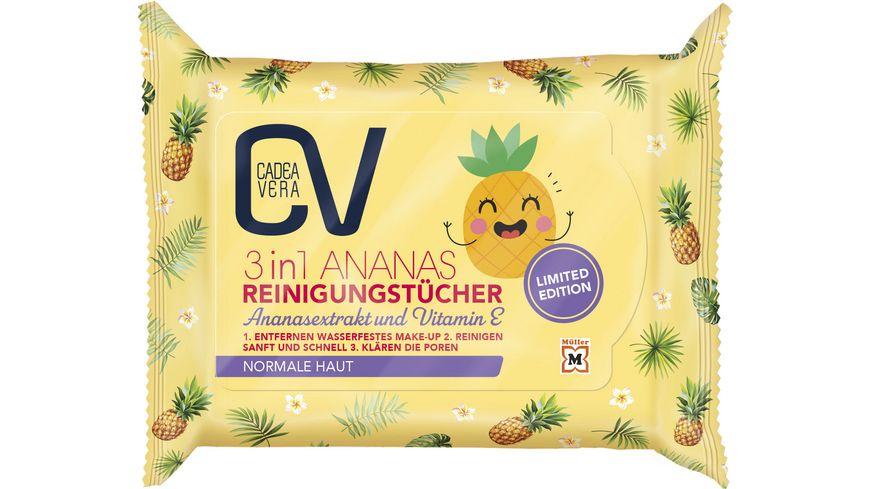 CV 3 in 1 Reinigungstuecher LTD mit Ananasextrakt und Vitamin E