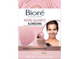 Biore Gesichtsseife mit Rosenquarz und Aktivkohle