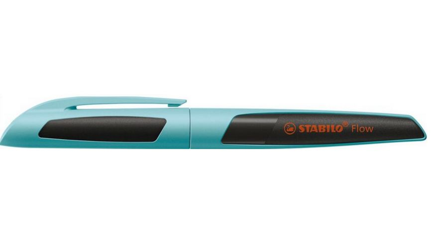 STABILO® Füller - STABILO Flow SPORTY in hellblau/schwarz - Einzelstift - inklusive Patrone