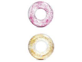 Intex Schwimmreifen Glitter Transparent 119 cm