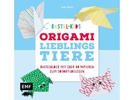 Bastel Kids Origami Lieblingstiere Bastelblock mit ueber 40 Papieren zum Sofort Loslegen fuer Kinder ab 5 Jahren