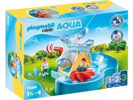 PLAYMOBIL 70268 1 2 3 Aqua Wasserrad mit Karussell