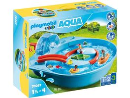 PLAYMOBIL 70267 1 2 3 Aqua Froehliche Wasserbahn
