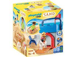PLAYMOBIL 70340 1 2 3 Sand Kreativset Sandburg