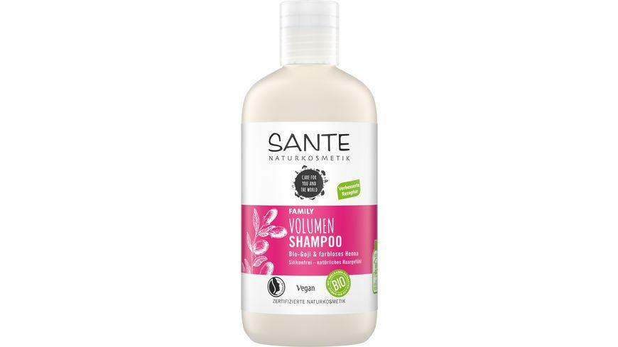 SANTE FAMILY Volumen Shampoo Bio-Goji & farbloses Henna