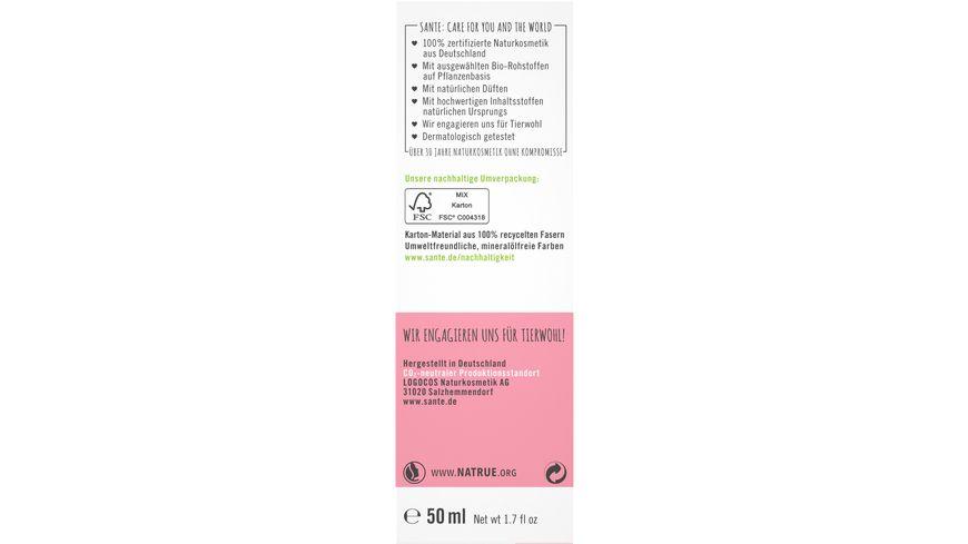 SANTE Schuetzende 24H Feuchtigkeitscreme Bio Inca Inchi Oel Probiotika