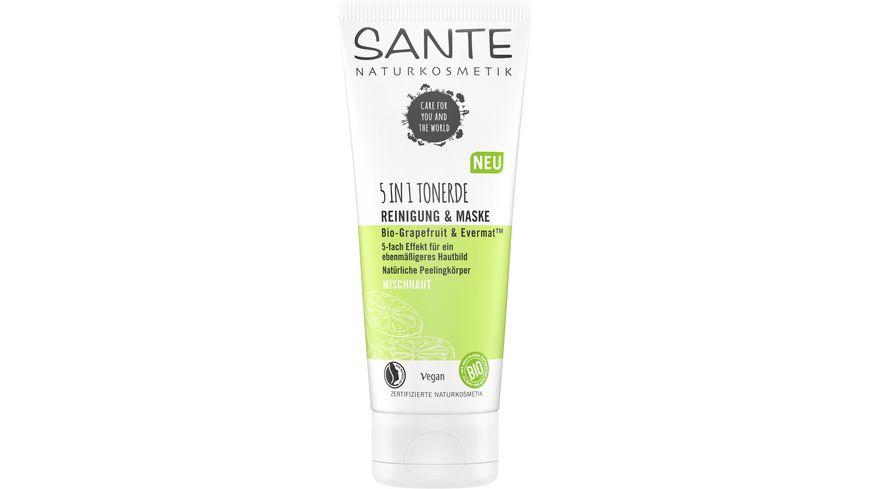 SANTE 5in1 Tonerde Reinigung Maske Bio Grapefruit EvermatTM