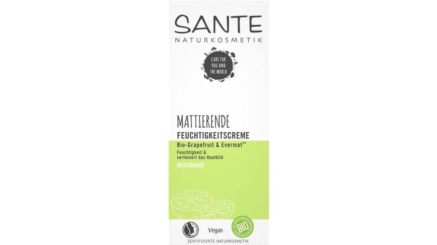 SANTE Mattierende Feuchtigkeitscreme Bio-Grapefruit & EvermatTM
