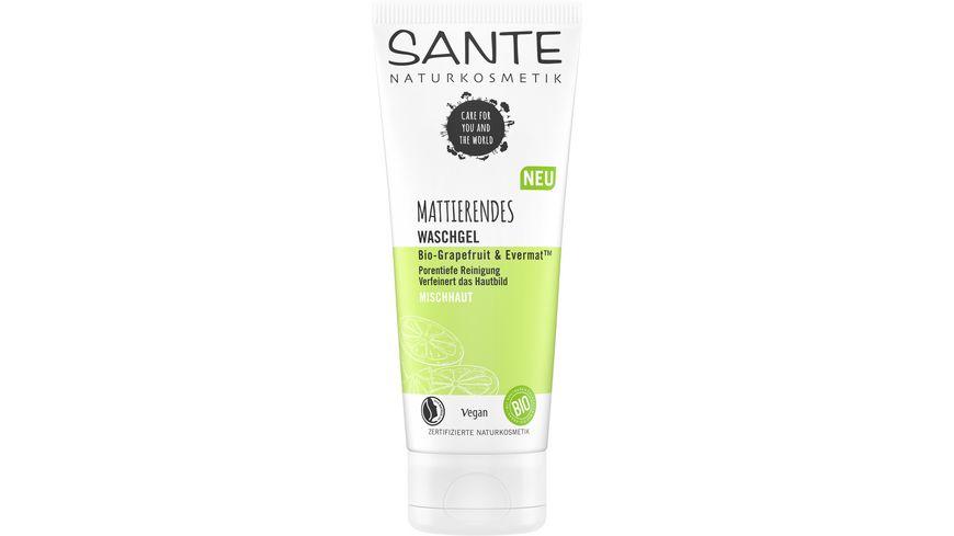 SANTE Mattierendes Waschgel Bio Grapefruit EvermatTM