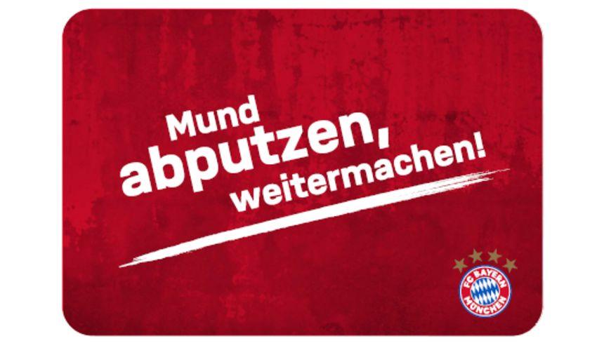 FC BAYERN MÜNCHEN SMU Frühstücksbrettchen Mund abputzen
