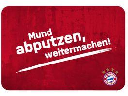 FC BAYERN MUeNCHEN SMU Fruehstuecksbrettchen Mund abputzen