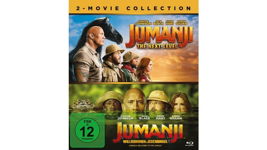 Jumanji: Willkommen im Dschungel & Jumanji: The Next Level  [2 BRs]
