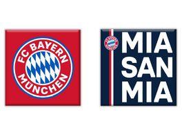 FC BAYERN MUeNCHEN SMU Magnet 2er Set MSM blau