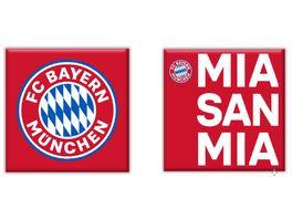 FC BAYERN MUeNCHEN SMU Magnet 2er Set MSM rot