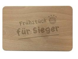 FC BAYERN MUeNCHEN SMU Brotzeitbrett Holz