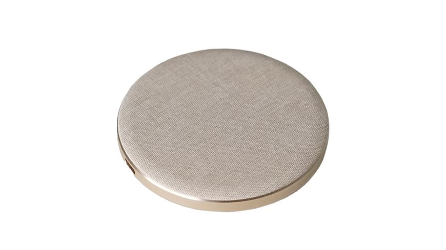 Ladegeraet Lotta Power Wireless Pad Single Qi zertifiziert Gold Smartphones Tablets