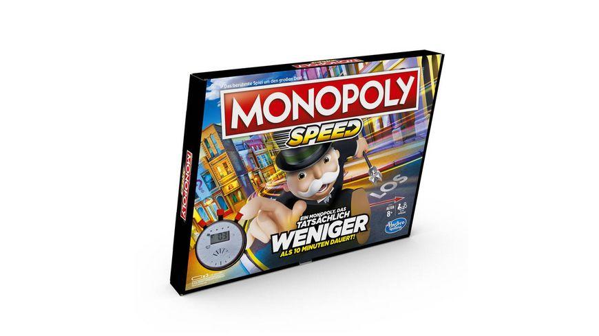 Hasbro Gaming Monopoly Speed Monopoly in weniger als 10 Minuten