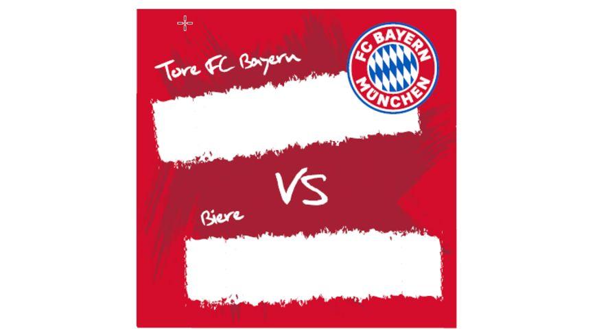 FC BAYERN MÜNCHEN SMU Korkuntersetzer 4er Tore FCB