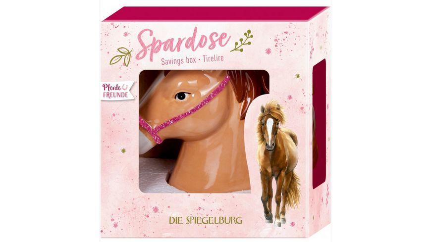 Die Spiegelburg Spardose Keramik Pferdefreunde