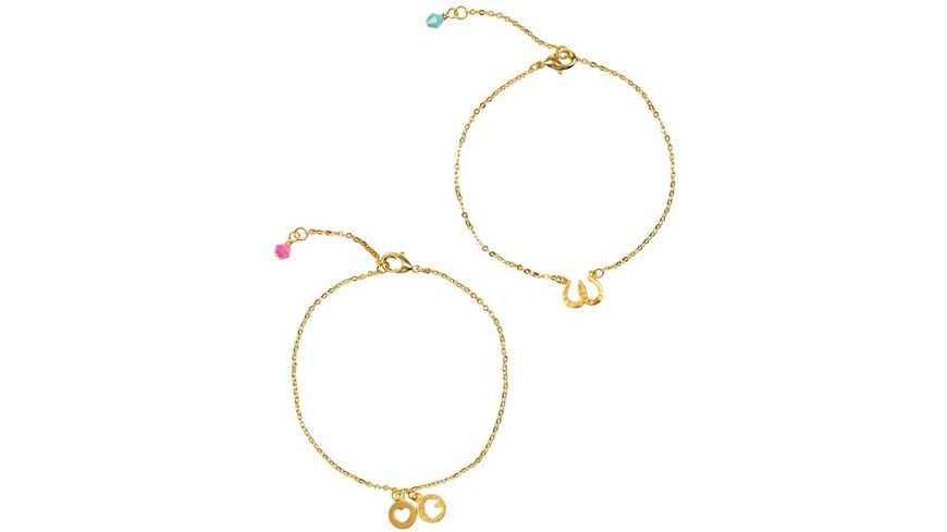 Die Spiegelburg - Armband Gold, 1 Stück, sortiert Pferdefreunde