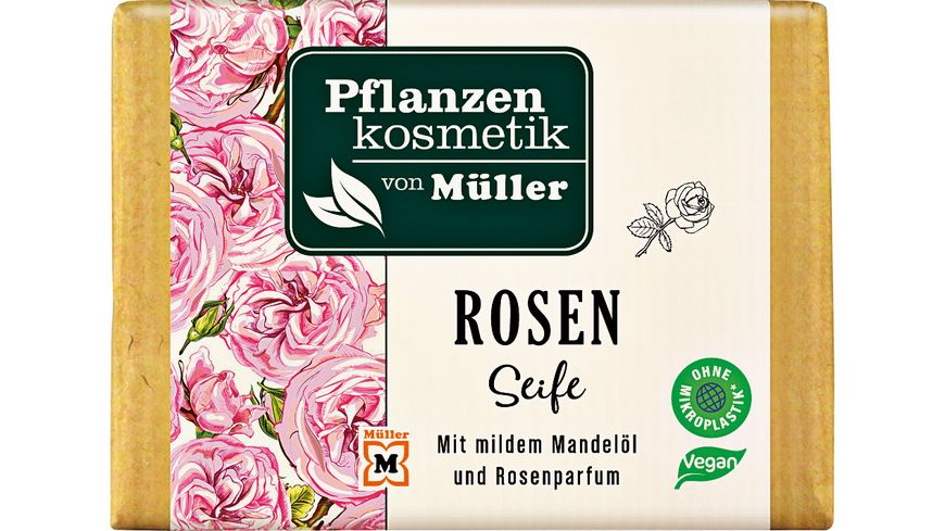 Pflanzenkosmetik von Mueller Rosenseife