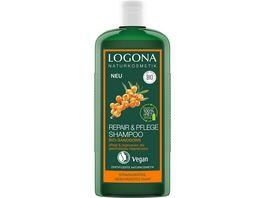 LOGONA Repair Pflege Shampoo Bio Sanddorn