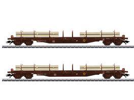 Maerklin 47150 Flachwagen Set Schnittholz