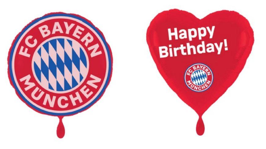 FC BAYERN MÜNCHEN SMU Folienluftballon 2er-Set Happy Birthday