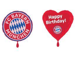 FC BAYERN MUeNCHEN SMU Folienluftballon 2er Set Happy Birthday