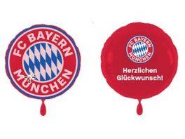 FC BAYERN MUeNCHEN SMU Folienluftballon 2er Set Glueckwunsch