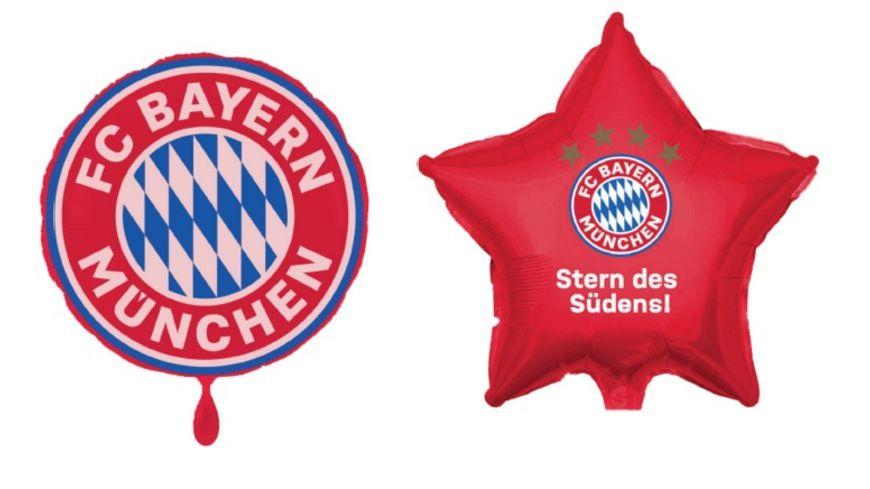 FC BAYERN MUeNCHEN SMU Folienluftballon 2er Set Stern Sueden