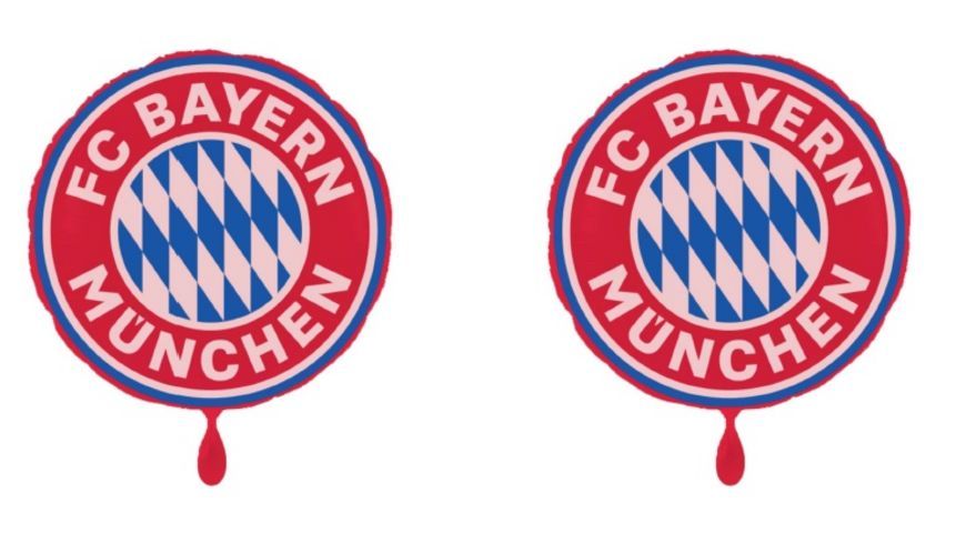 FC BAYERN MÜNCHEN SMU Folienluftballon Rund 2er-Set Logo