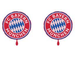FC BAYERN MUeNCHEN SMU Folienluftballon Rund 2er Set Logo
