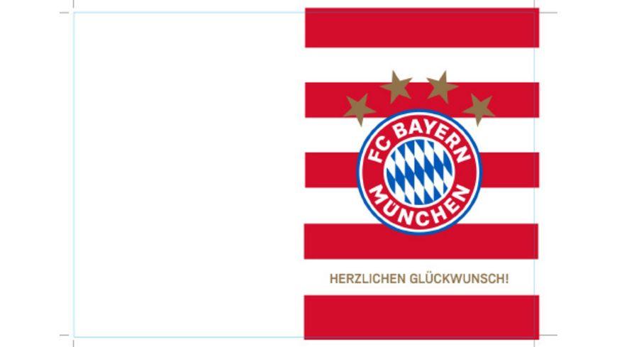 FC BAYERN MÜNCHEN SMU Karte Herzlichen Glückwunsch Streife