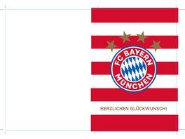 FC BAYERN MUeNCHEN SMU Karte Herzlichen Glueckwunsch Streife