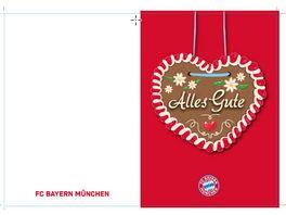 FC BAYERN MUeNCHEN SMU Glueckwunschkarte Alles Gute Lebkuchen