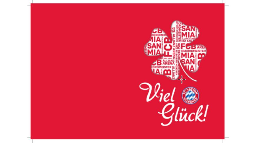 FC BAYERN MÜNCHEN SMU Glückwunschkarte Viel Glück
