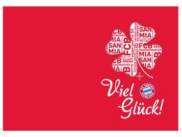 FC BAYERN MUeNCHEN SMU Glueckwunschkarte Viel Glueck