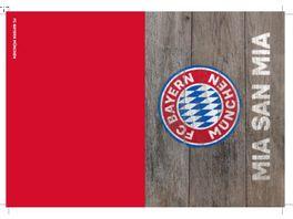 FC BAYERN MUeNCHEN SMU Glueckwunschkarte MSM Holz