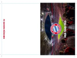 FC BAYERN MUeNCHEN SMU Glueckwunschkarte Arena innen