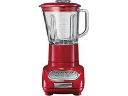 KitchenAid ARTISAN Blender Standmixer mit 1 5 Liter Glasbehaelter und 0 75 Liter Kuechenmixbehaelter empire rot