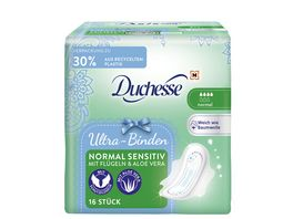 Duchesse Ultra Binden Normal Sensitiv mit Fluegeln Aloe Vera