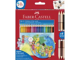 FABER CASTELL Colour Grip Children of the world Buntstifte dreikant 20 3