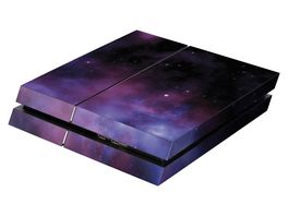 Skins Sticker fuer PS4 Konsole Galaxy Violet