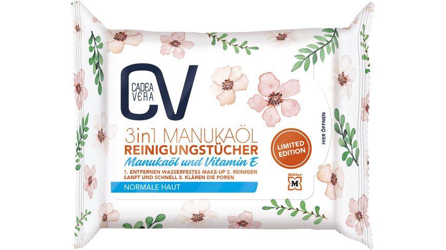 CV 3 in 1 Reinigungstücher LTD 25 Stück mit Manukaöl und Aloe Vera