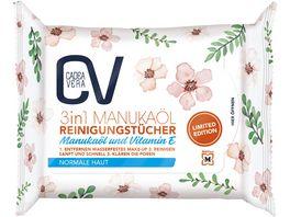 CV 3 in 1 Reinigungstuecher LTD 25 Stueck mit Manukaoel und Aloe Vera