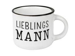 GRAFiK WERKSTATT Espresso Tasse Lieblingsmann